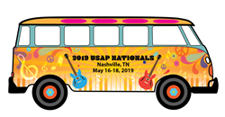 2019 USAP Nationals Logo - 1960s bus